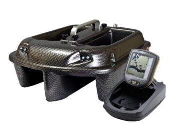 Carp Madness Phantom Futterboot Bausatz 2,4 Ghz Carbon, Echolot RF15e, Graupner HoTT MX-12